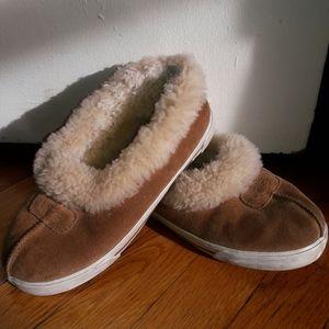 UGG Tan Slippers Girls Sz 3
